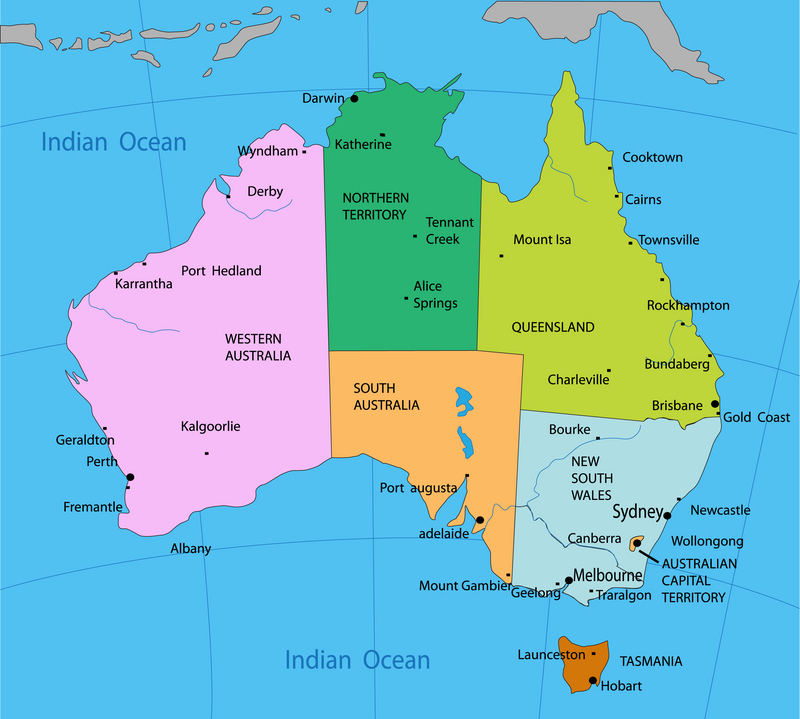 Bản đồ nước Úc